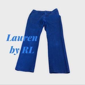 Lauren RL Navy Straight Leg Stretch Jeans Sz 6